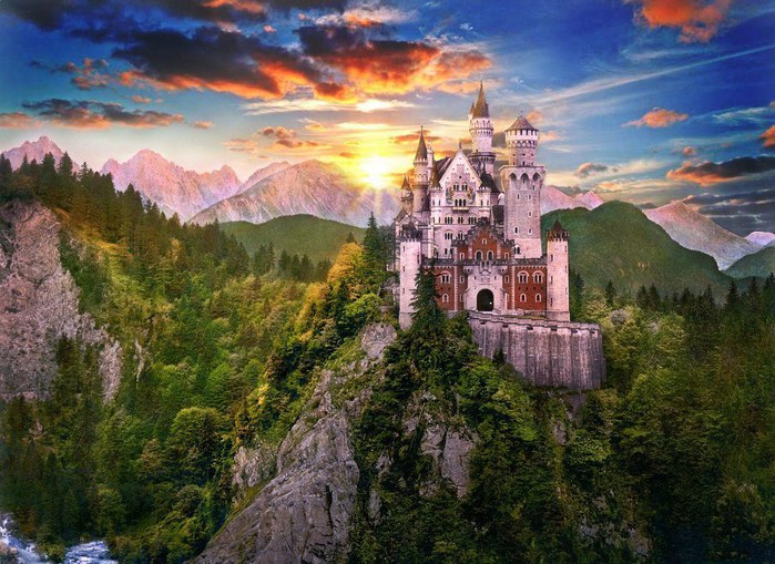 Замок Нойшванштайн, Германия (700x509, 119Kb)