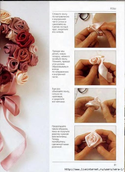 Как быстро сделать цветы из лент видео