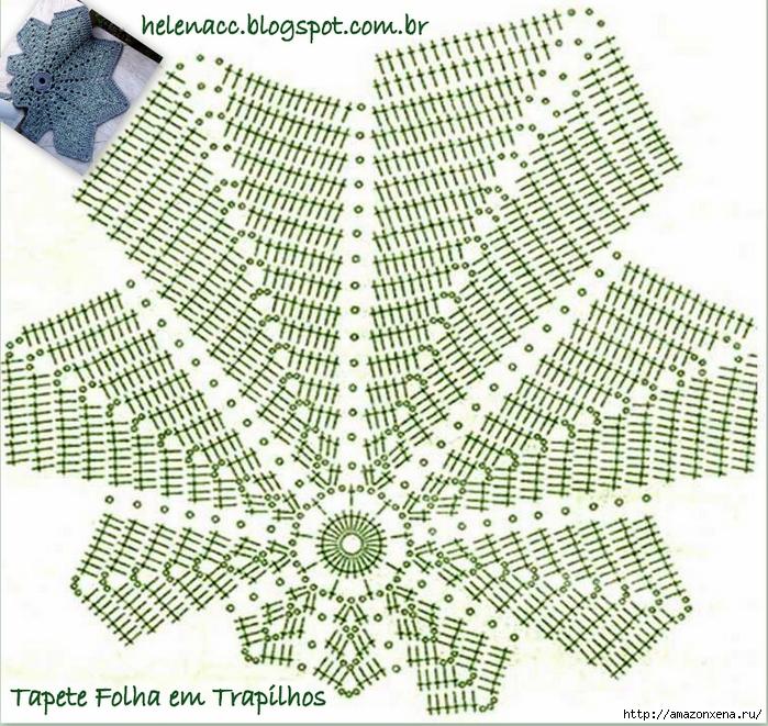 Коврик крючком - Осенний лист (3) (700x661, 436Kb)