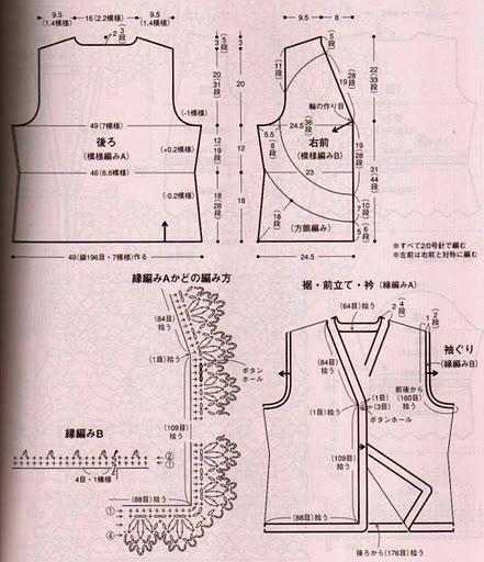 两款钩法类似菠萝花衣 - 荷塘秀色 - 茶之韵