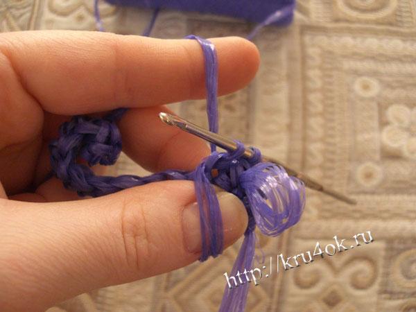 Вяжем мочалку крючком - смотреть онлайн видео, бесплатно!  Как связать овал крючком, правило вязания овала Вязание.