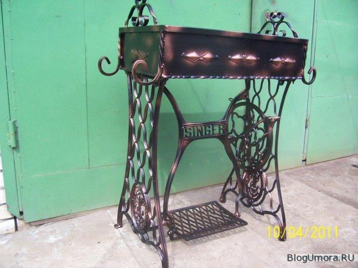 Мангал из швейной машинки