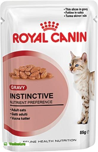 Корм консервированный Royal Canin Instinctive пауч с Мясом и Рыбой для кошек 85г (329x510, 38Kb)