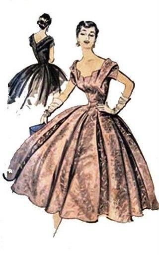 Выкройки для платьев 50-х