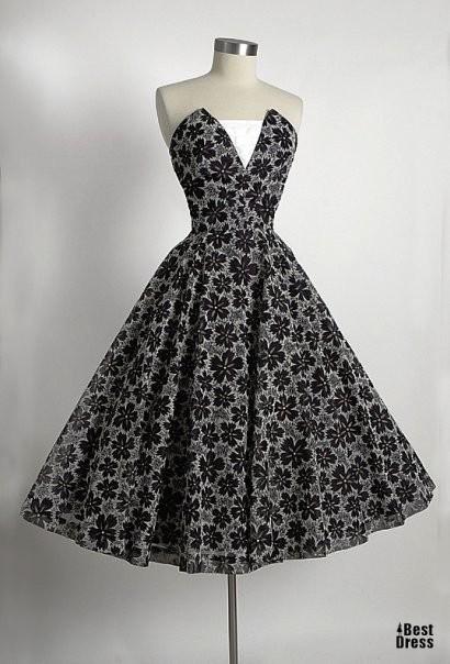 Платье в стиле 80-х выкройка