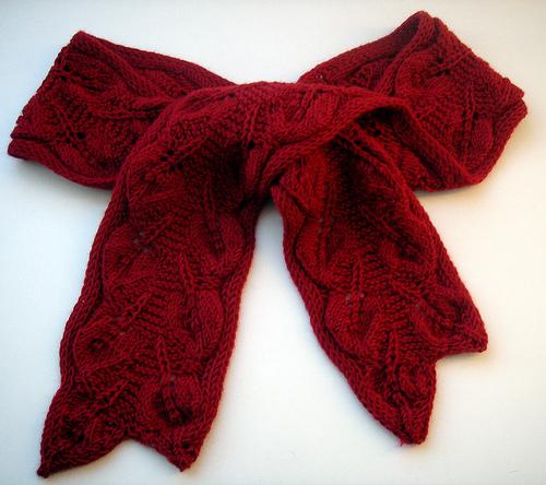 шарф с листиками (2) (500x444, 155Kb)