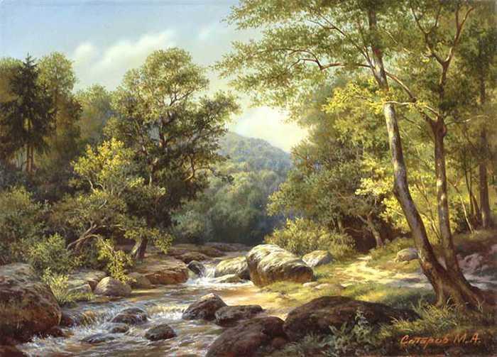 М.А.Сатаров -современный художник пейзажист/пейзаж.