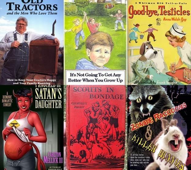 Обложки самых странных книг на английском языке. Фотографии
