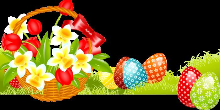 Пасха, пасхальные куличи, пасхальные яйца, цветочные композиции - клипарт в формате PNG на прозрачном фоне ' Портал графики и ди
