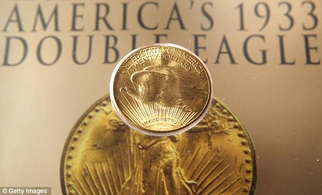 Золотая монета Двуглавый Орел Double Eagle (634x385, 54Kb)