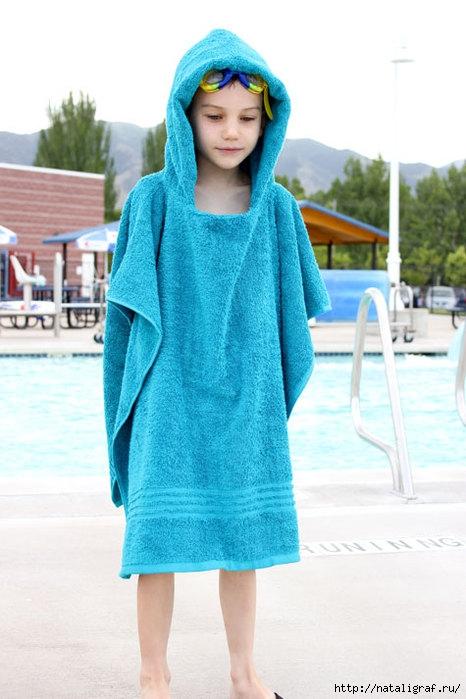 Как сшить детское полотенце-пончо Просто Мама 6