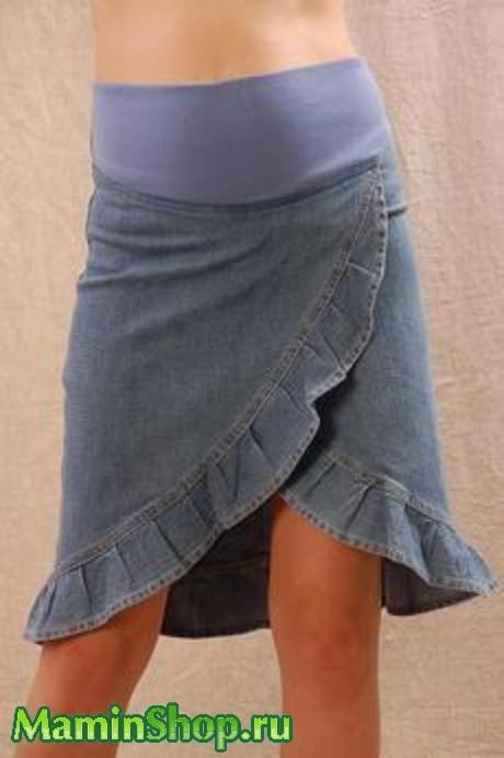 Юбка из джинс своими руками фото