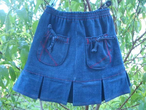Юбка для девочки из джинс своими руками выкройки