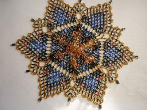 Мастер класс по плетению салфетки из бисера