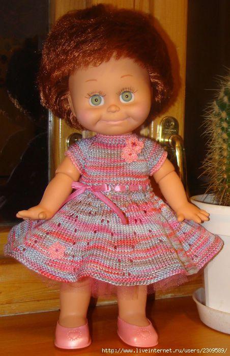 Схема платья кукле спицами