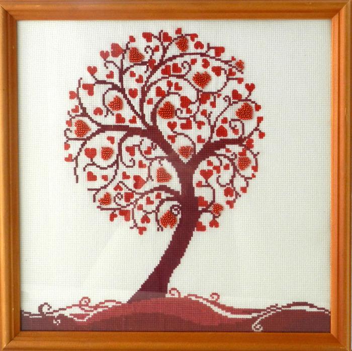 Денежное дерево вышивка бисером
