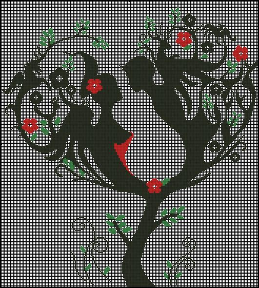 2 - Вышивка-Дерево счастья .