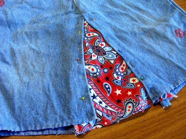 юбка из старых джинс.