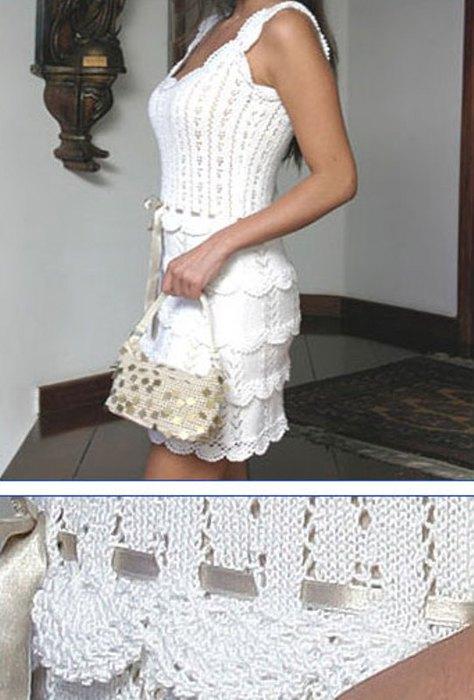 белые ажурные платья