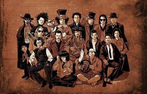 Многообразие образов Джонни Деппа (604x388, 87Kb)