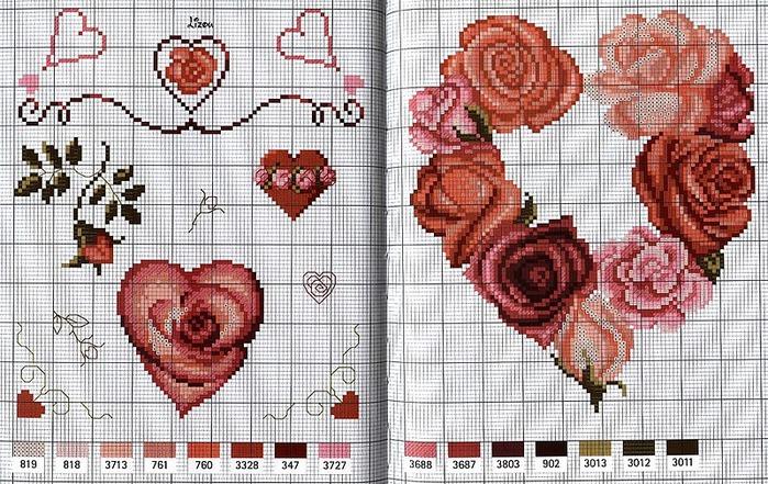 Схемы для вышивки на день святого валентина