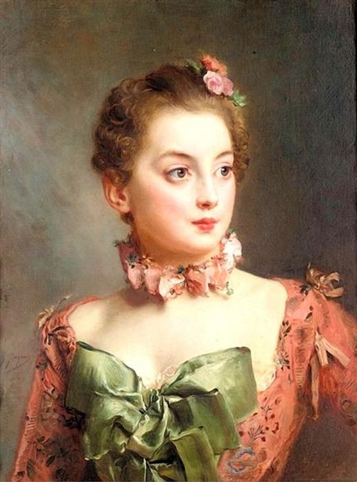 Gustave Jean Jacquet - Portrait of a lady (518x700, 250Kb)