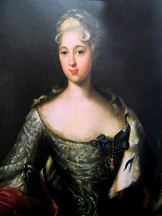 И.Таннауэр. Портрет Марии Меншиковой. Не позже 1724 (525x700, 222Kb)