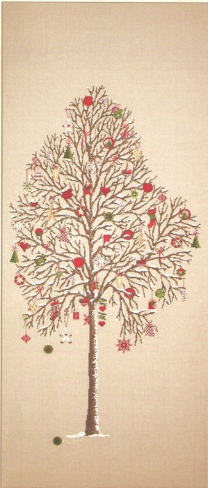 вышивка крестом, схемы Дерево