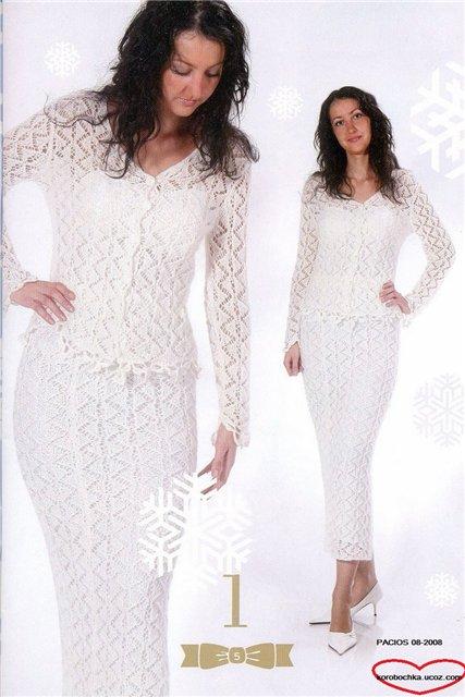 Белый костюм спицами (2) (427x640, 55Kb)