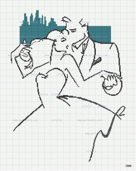Монохромная вышивка, схемы (2) (556x700, 89Kb)