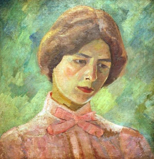 Лиза в розовом. Портрет Е.С.Потехиной, 1909
