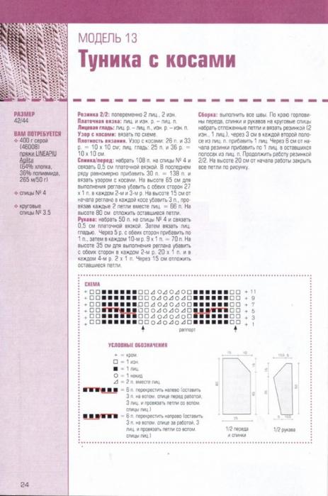 Вязаные летние платья и туники 10
