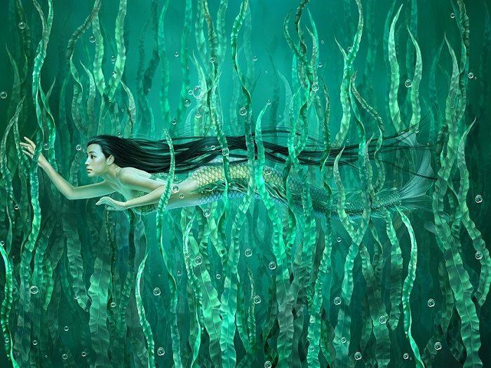 Русалки китайского художника Tang Yuehui