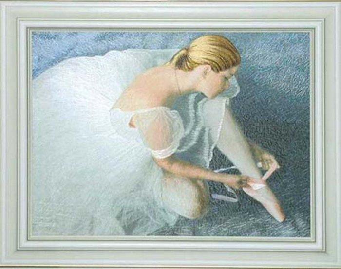 Гладь вышивка балерины