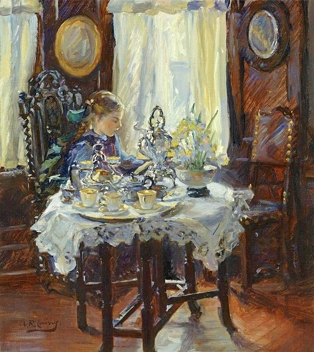 Annie Rose Laing.At the breakfast table,1919 (623x700, 389Kb)