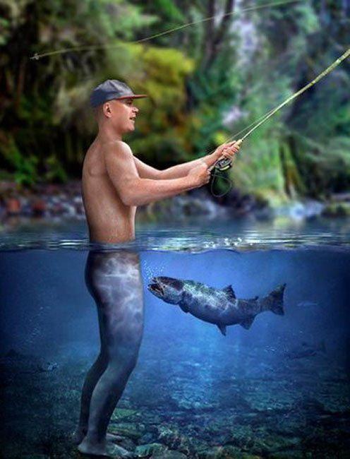 девушки голые на рыбалке фото
