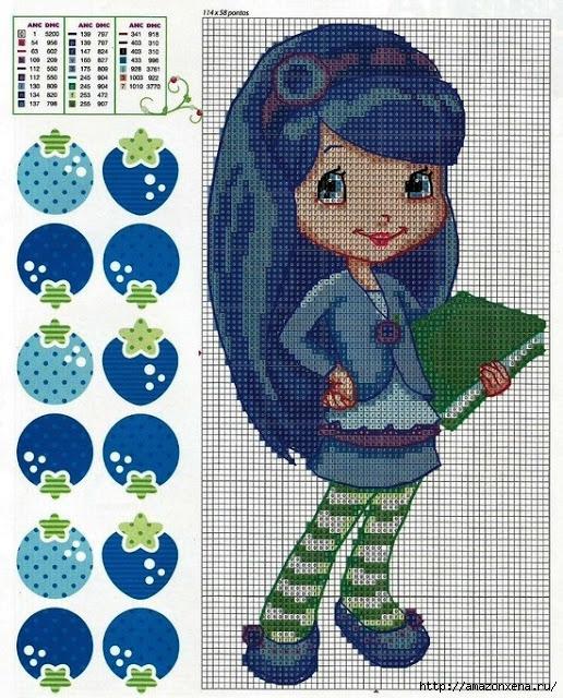 Схемы детской вышивки. Девочки (1) (516x640, 332Kb)