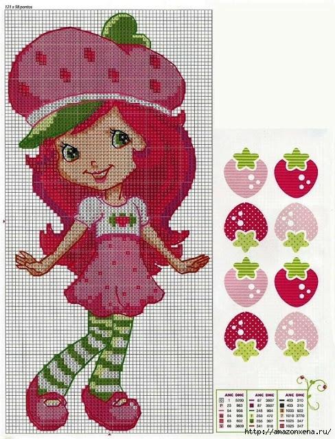 Схемы детской вышивки. Девочки (3) (488x640, 299Kb)