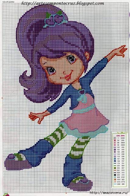 Схемы детской вышивки. Девочки (5) (426x640, 302Kb)