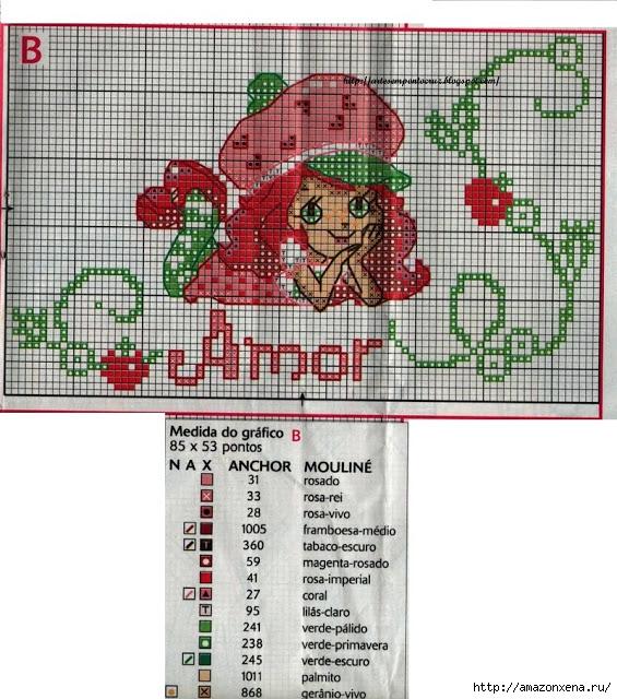 Схемы детской вышивки. Девочки (11) (565x640, 308Kb)
