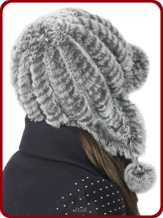 Вязаная шапка из нутрии