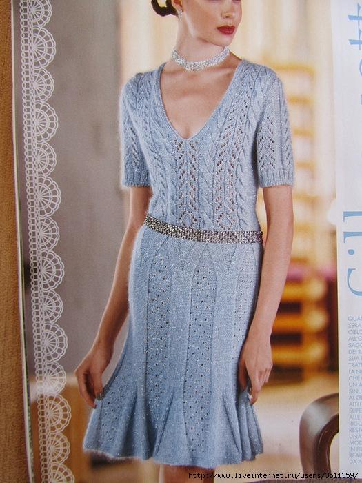 голубое платье спицами (2) (525x700, 300Kb)