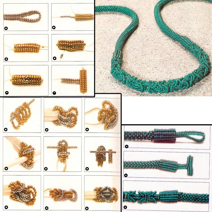 Плетение турецкого жгута из бисера мастер класс