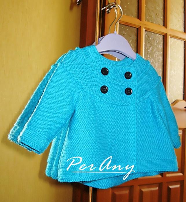 Своими руками вязаные пальто для девочки 611