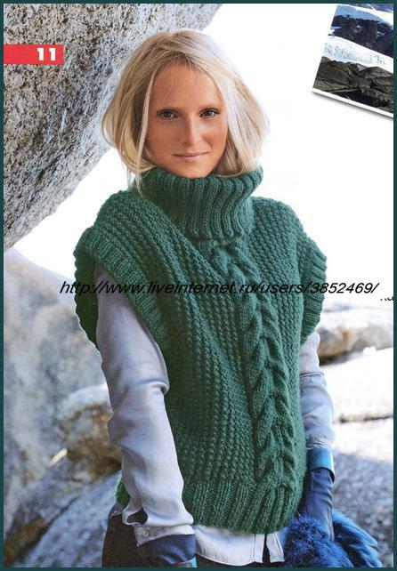зелёный пуловер (446x642, 97Kb)