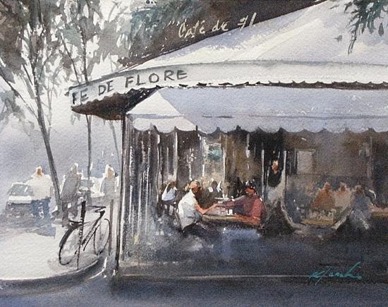 Парижское кафе xlix 550x435 202kb