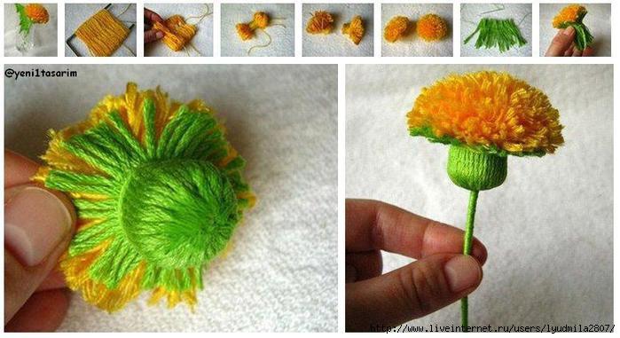 paso a paso flor super original con lana (700x381, 144Kb)