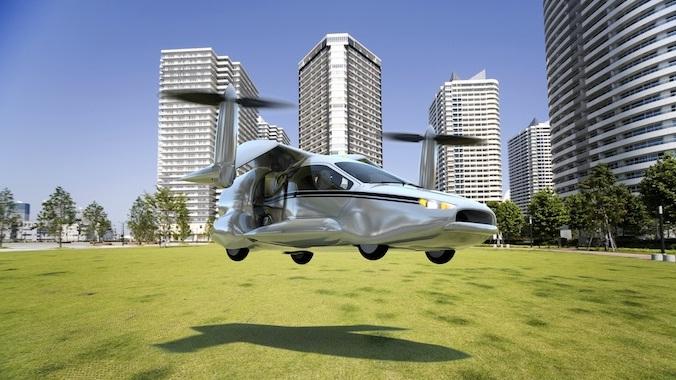 Летающий автомобиль (676x380, 111Kb)