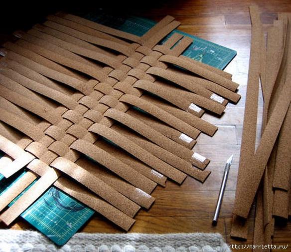 Декорирование подноса пробковой подложкой (3) (584x505, 220Kb)
