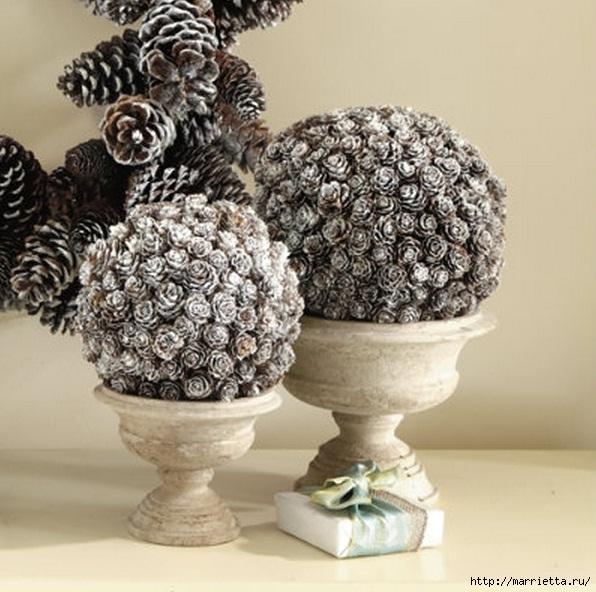 Декоративные шары из шишек (1) (596x592, 206Kb)